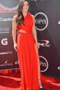 Ali Krieger red dress