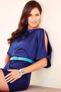 Ana Ivanovic blue dress