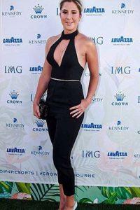 Belinda Bencic black dress