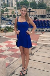 Belinda Bencic blue dress