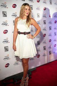 Belinda Bencic white dress