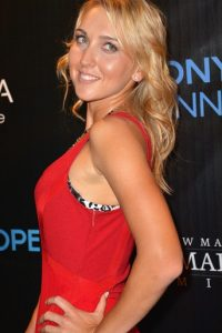 Elena Vesnina red dress