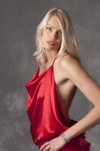 Maria Stepanova hot red dress