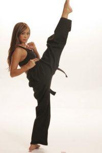 Michelle Waterson karate